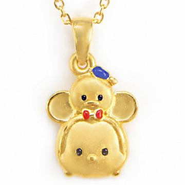 迪士尼系列金飾-TSUM TSUM造型黃金墜子-米奇&唐老鴨款加贈金色鋼鍊
