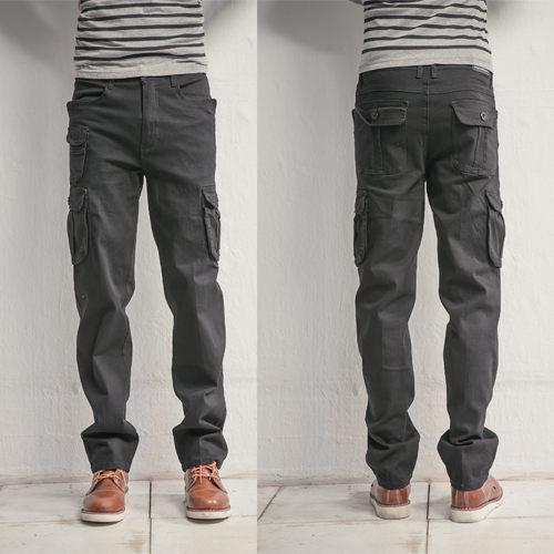 牛仔褲-立體多口袋設計工作褲
