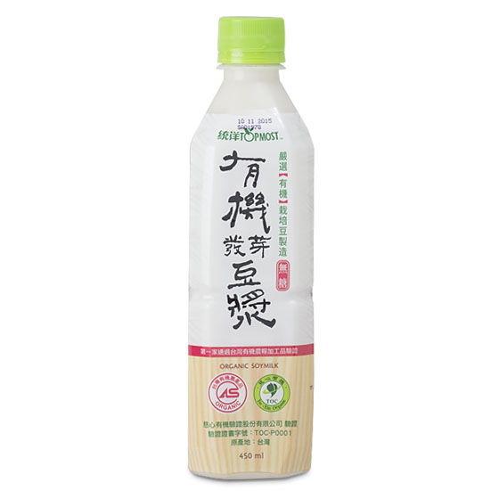統洋 有機發芽豆漿 無糖(450毫升) 一瓶 全素食