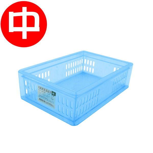義大文具~W.I.P理想家置物籃中C2416工具箱置物盒置物籃收納藍整理資料收納