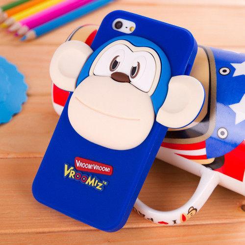 5S iphone 5/5S 免運iphone 5   可愛蹦蹦猴保護套
