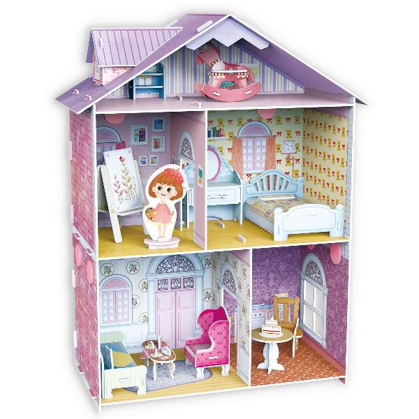 佳廷家庭DIY紙模型3D立體勞作拼圖專賣店甜蜜居家佈置夢幻洋娃娃屋6藝術家至尊版樂立方K1201