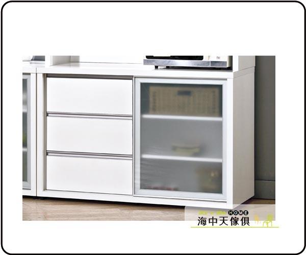 {{ 海中天休閒傢俱廣場 }} B-07 摩登時尚 餐櫃系列 643-3 羽田4尺白色鋁框推門餐櫃(下座)