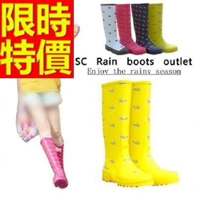 雨靴-女雨具防水設計防滑女長筒雨鞋4色54k2[時尚巴黎]