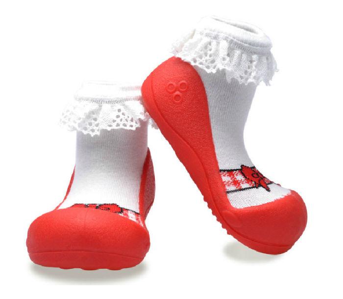 Attipas襪型學步鞋- 芭蕾紅