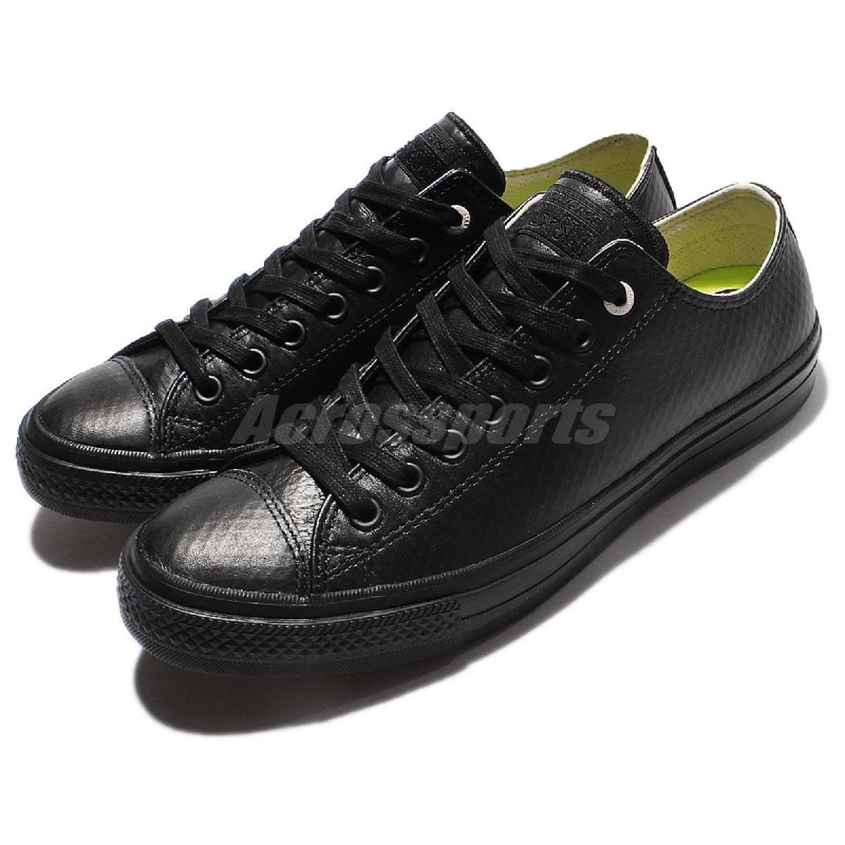 Converse Chuck Taylor All Star II黑全黑低筒皮革帆布鞋男鞋女鞋PUMP306 153556C