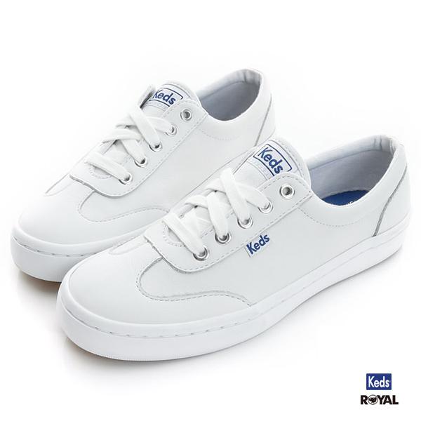 Keds新竹皇家TOURNAMENT白色皮質休閒鞋女款NO.I7765