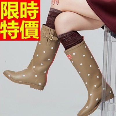 雨靴-女雨具防水必備防滑女長筒雨鞋54k17[時尚巴黎]