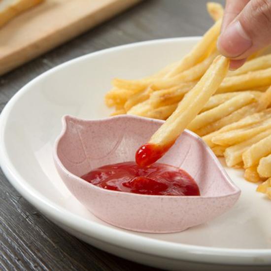 ✭米菈生活館✭【N353】創意樹葉造型碟 小碟子 小吃 醋碟 醬油碟 點心 菜碟 調味碟 廚房