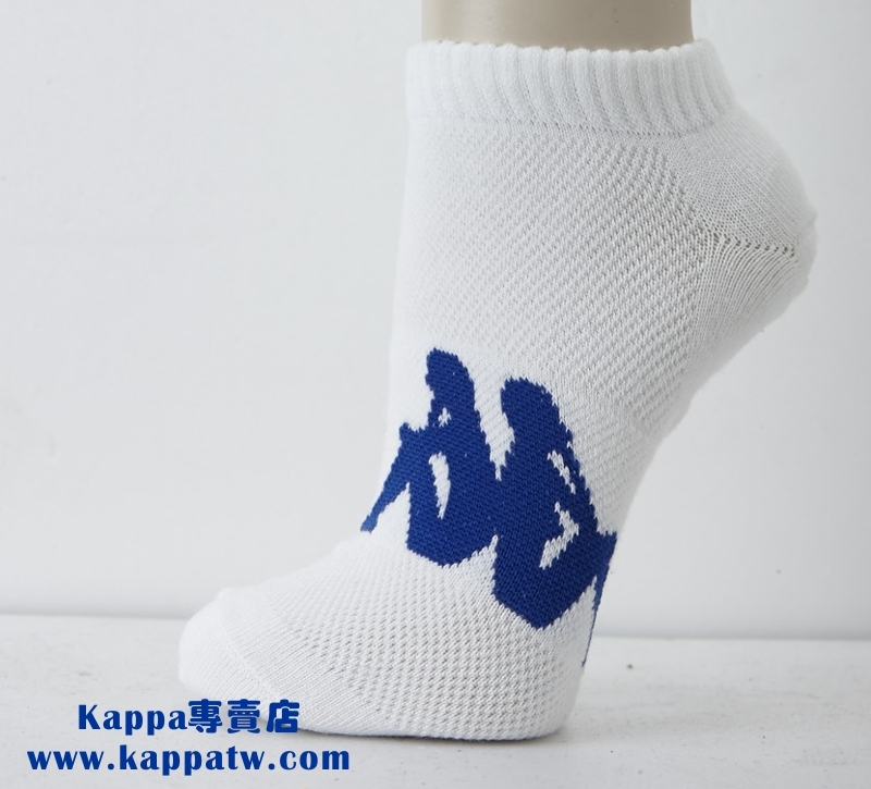 Kappa 男生踝襪-白(薄底) SM62 -M227-0