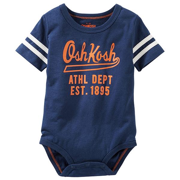 Carter's OshKosh B'gosh美國童裝連身衣短褲短袖深藍字母6M 9M 12M 18M 24M