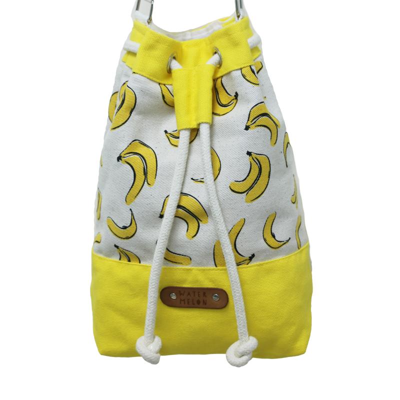 ☆小時候創意屋☆香蕉  泰國品牌 WATER MELON包 曼谷包/BKK包/肩背包/收納包/水桶包/束口包