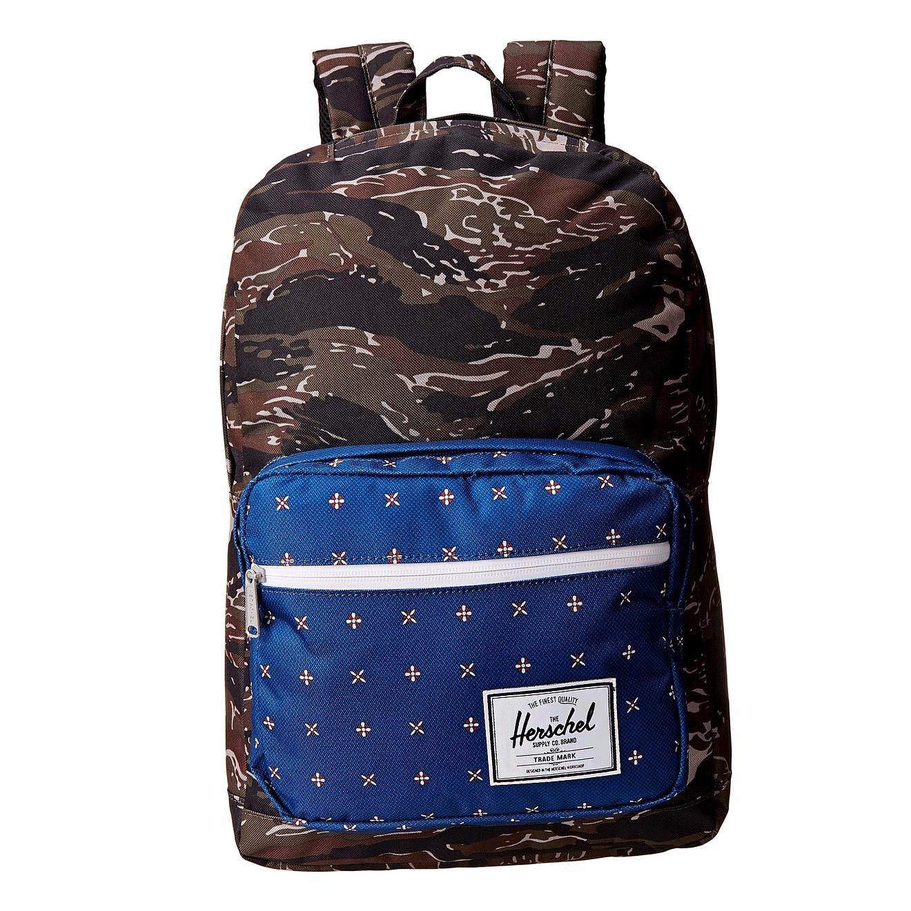Hsin 85折現貨Herschel Pop Quiz虎紋迷彩Camo深藍帆布防潑水筆電多夾層實用大容量後背包