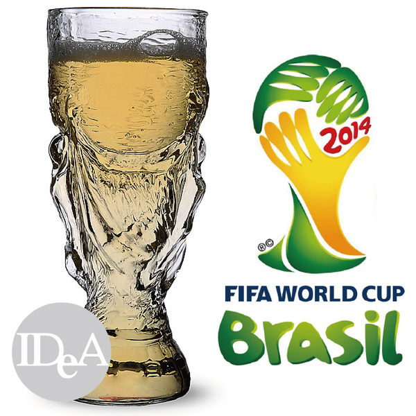 IDEA世界杯足球賽紀念版大力神杯玻璃啤酒杯世界盃世足賽水杯300ml專區FIFA World Cup