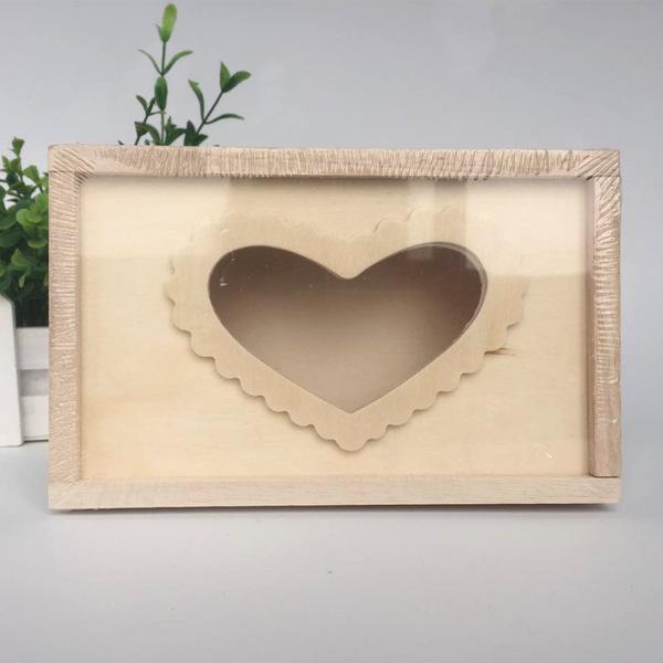 兒童手工制作diy材料包雪花泥珍珠泥木質紙巾盒白胚創意木質紙巾盒白坯預購CH568