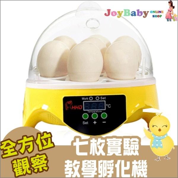 孵蛋機孵化機最新7枚自動控溫迷你孵化器鳥蛋雞蛋烏龜蛋鴿子蛋110V-Joybaby