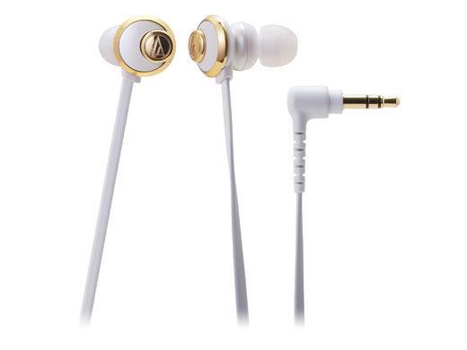 台中平價鋪全新鐵三角ATH-CKF77耳塞式耳機白色優美曲線女性專屬台灣鐵三角公司貨