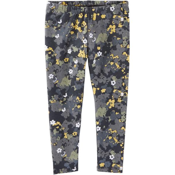 Carter's OshKosh B'gosh美國童裝純棉長褲緊身褲金蔥花卉迷彩2T 3T 4T 5T