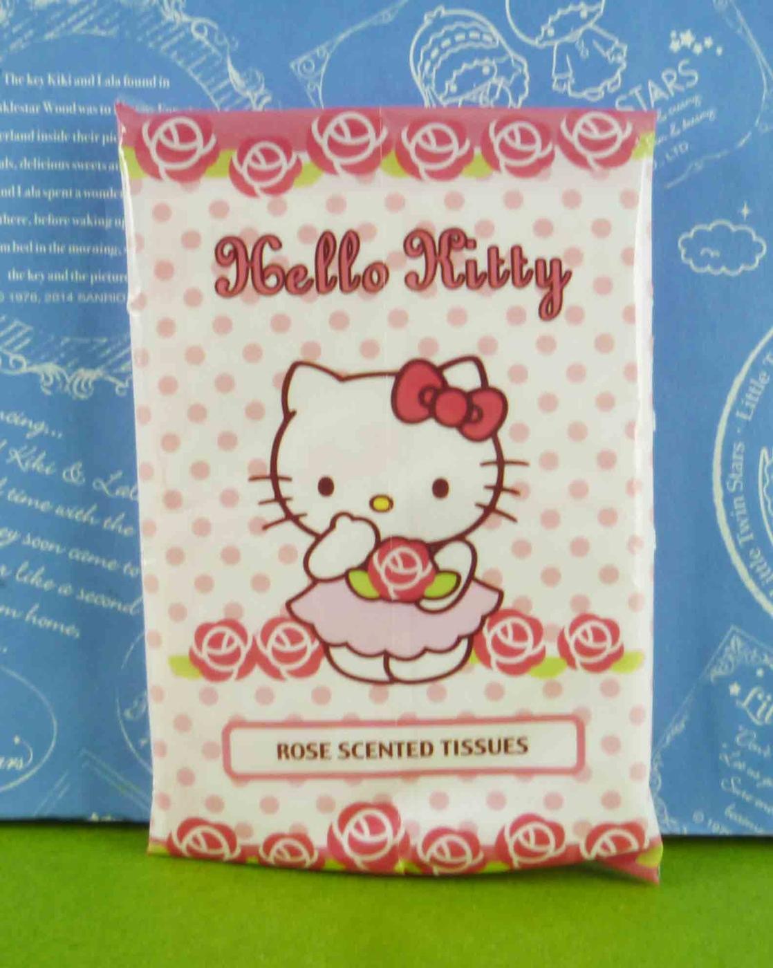 【震撼精品百貨】Hello Kitty 凱蒂貓~袖珍包面紙-香味-玫瑰花造型【共1款】