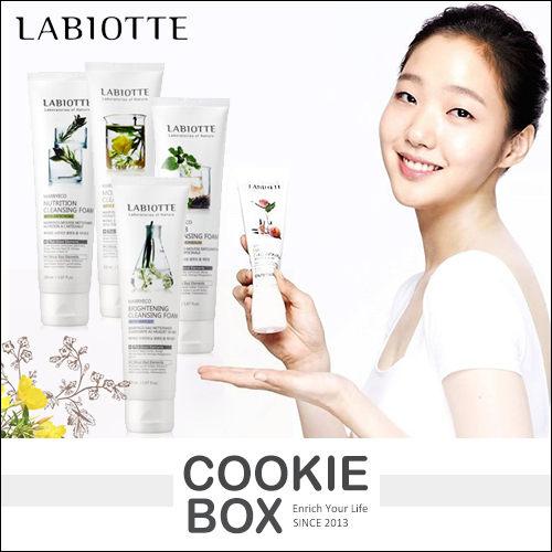 韓國LABIOTTE自然精靈系列洗面乳150ml臉部清潔洗臉滋養磨砂奶酪金高恩*餅乾盒子