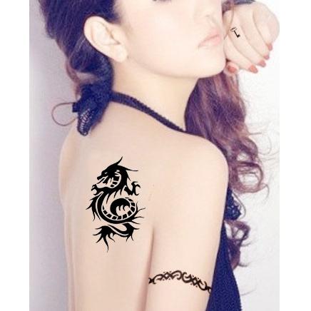 龍紋紋身貼 刺青 刺青貼紙 貼紙 夜店 海邊 出國 旅遊 紋身 黑色 紋身貼紙【0040】