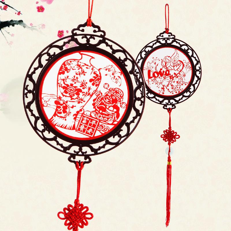 [超豐國際]新年福字剪紙掛飾春節中國結掛件客廳裝飾工藝品過年裝飾品