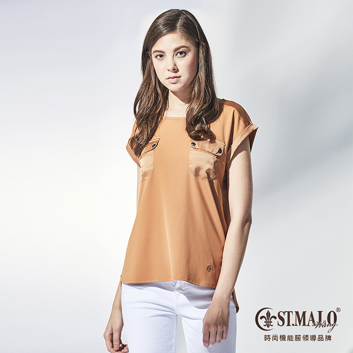 【ST.MALO】MIT獨性時尚防蚊吸排雙口袋女上衣 -1779WT-堅果棕