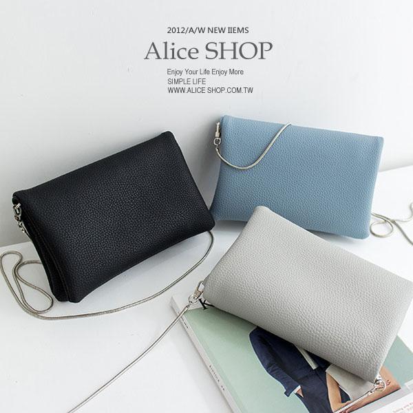 【Alice Shop 愛麗絲】韓國款熱賣荔枝纹實用 斜背包 可放卡片 錢包 手機 外出包【pg53309572】現貨