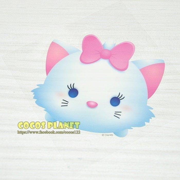 正版迪士尼疊疊樂防水貼紙TSUM TSUM瑪麗貓瑪莉貓壁貼防水貼紙行李箱貼紙COCOS FT034