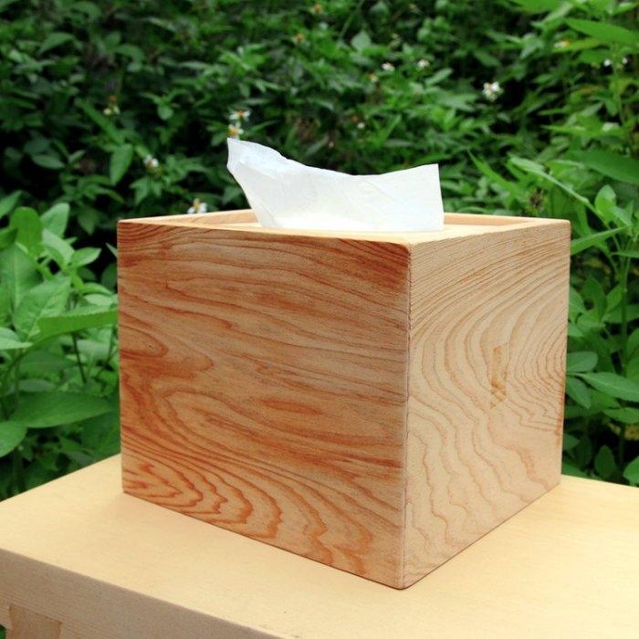 木樂館原木台檜方形衛生紙盒台灣檜木活動式面紙盒木盒置物盒居家雜貨