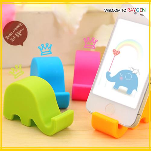 小清新可愛大象多功能手機座懶人支架不挑款