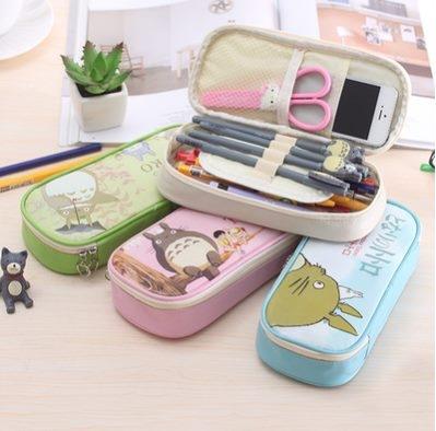 預購-韓國創意文具龍貓卡通大容量筆袋