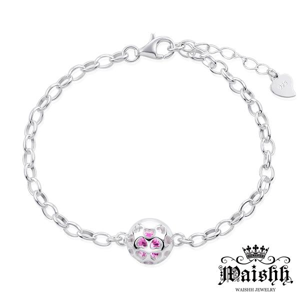 Waishh玩飾不恭滿滿的愛可開式925純銀誕生石手鍊附贈一顆誕生石