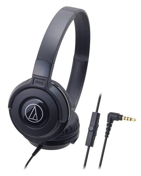 鐵三角ATH-S100is耳罩式耳機BK黑色支援智慧型手機麥克風My Ear台中耳機專賣店
