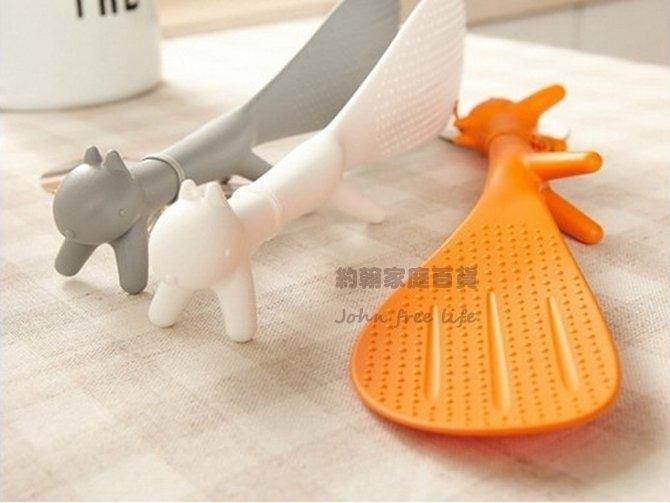 約翰家庭百貨》【AG220】松鼠造型可立式飯勺不黏飯勺 隨機出貨