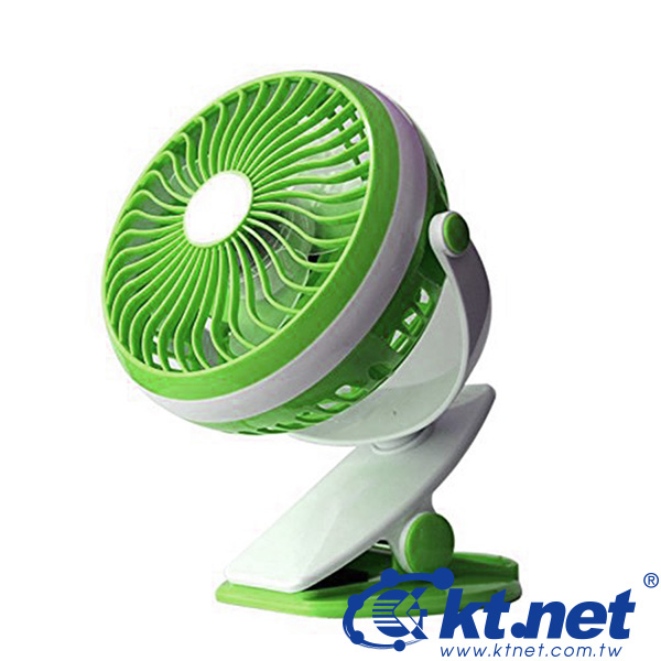 鼎立資訊KENET 4充電立夾式風扇USB風扇隨身風扇18650電池360度旋轉