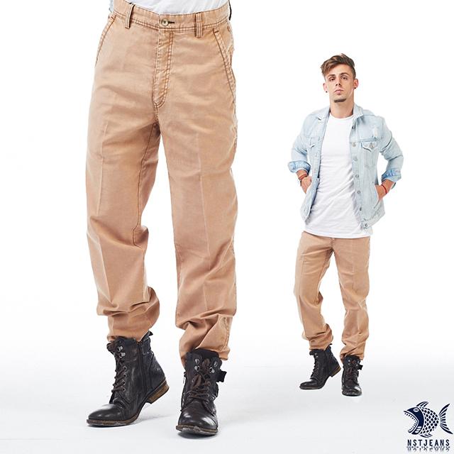 [即將斷貨] NST Jeans 超然 暗澄石洗斜口袋休閒褲(中腰) 390(5560) 大尺碼/雪花/台製/紳士/男