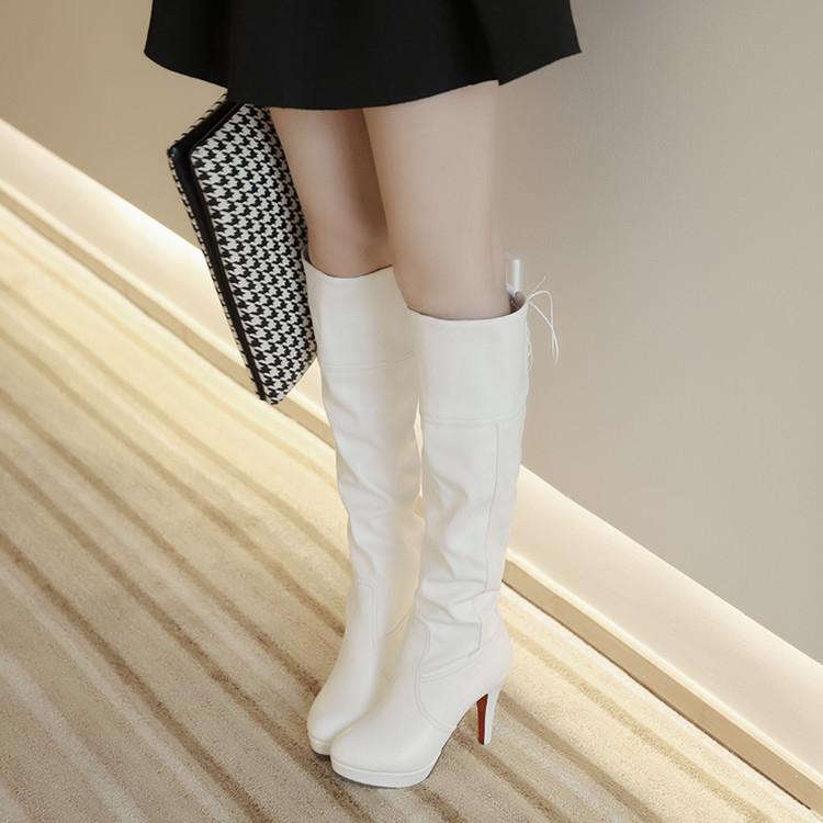 高筒靴高跟細跟韓版長靴