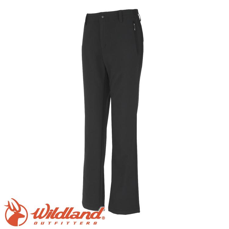【Wildland 荒野 女 彈性超輕量防風保暖長褲《黑》】W2311/2-WAY雙向彈性/戶外活動★滿額送