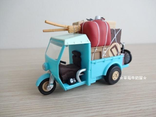 ☆草莓牛奶屋☆日本進口宮崎駿【TOTORO龍貓】場景玩具車(搬家三輪車)