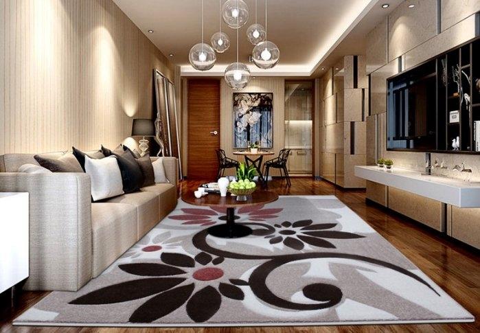 現代客廳地毯沙發茶幾地毯臥室床邊辦公室門口大小地墊4076