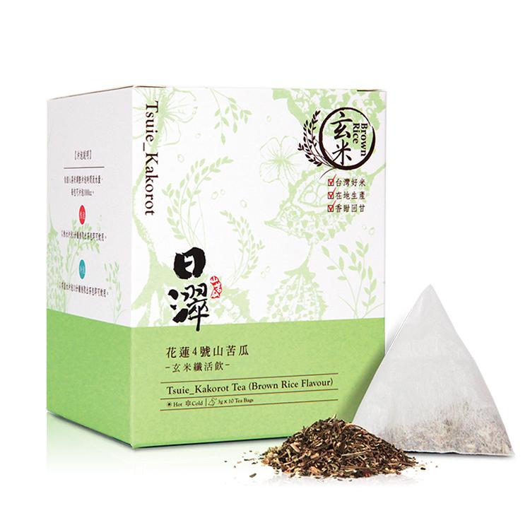 【日濢Tsuie】花蓮4號山苦瓜玄米茶(10包/盒)