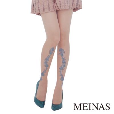 MEINAS美娜絲中國風錫光牡丹造型褲襪