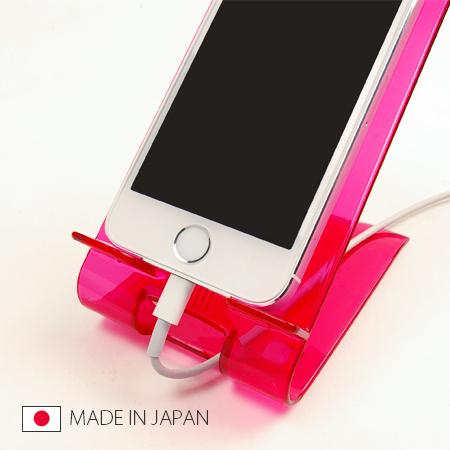 日本製手機桌上收納架手機立架支架充電壓克力智慧型手機iphone 5 SV3165快樂生活網