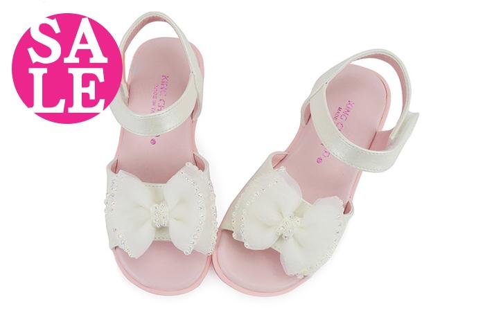 女童涼鞋 真皮吸汗 台灣製 紡紗亮鑽蝴蝶結 氣質公主兒童涼鞋I6517#白色◆OSOME奧森童鞋/小朋友