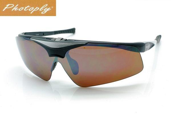 又敗家台灣斌視PHOTOPLY黑色可掀鏡片可換大聯盟MLB眼鏡運動太陽眼鏡CD12防藍光眼鏡抗藍光眼鏡