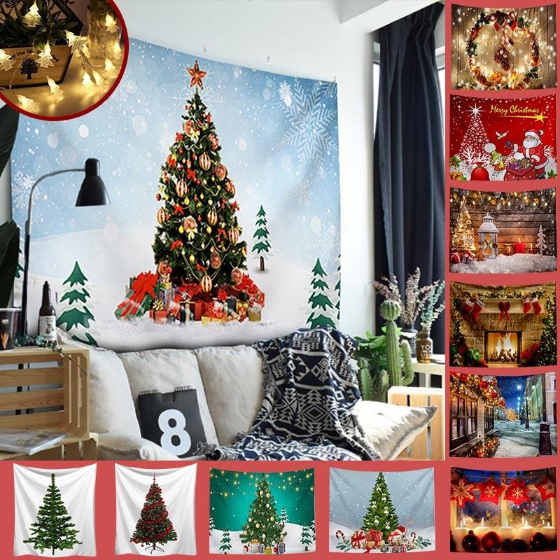 聖誕布置系列/送1.5米星星燈/IG爆款北歐風裝飾掛布-多款任選/窩自在