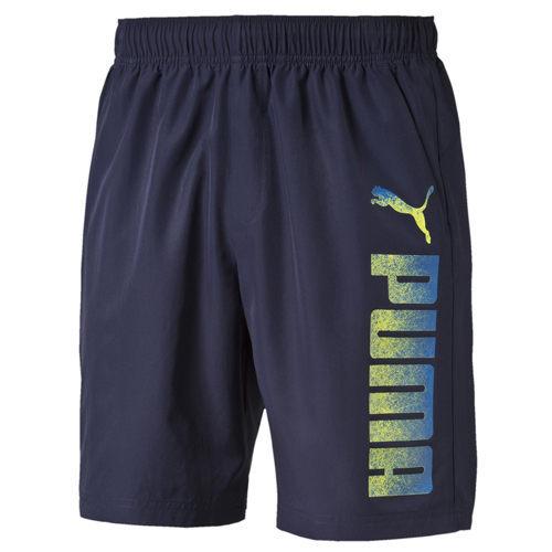 Puma Reble 男 深藍 短褲 運動褲 8吋 慢跑 休閒 透氣 排汗 雙口袋 腰間抽繩 短褲 83836125