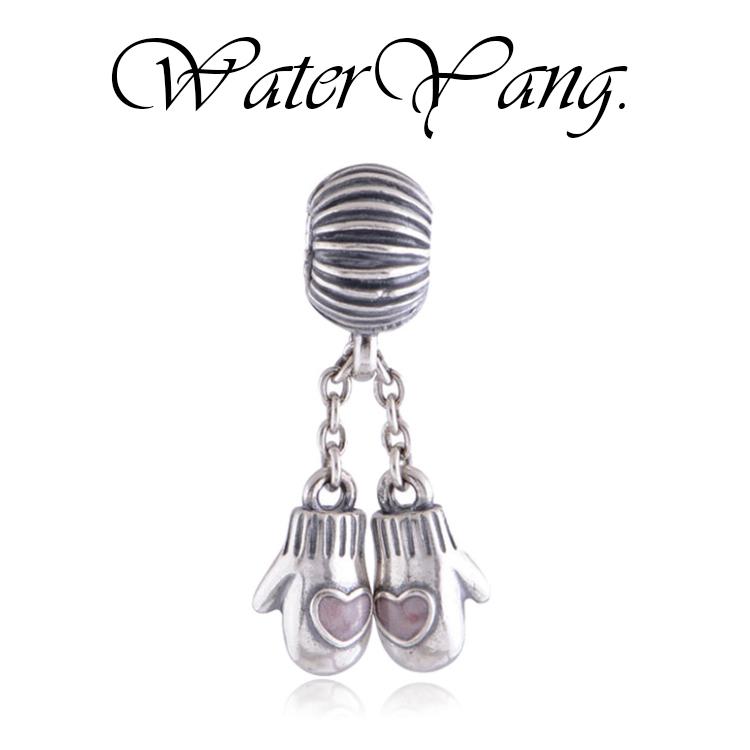 WaterYang.× 串珠珠-可愛愛心保暖手套串飾 串珠風格手鍊配件