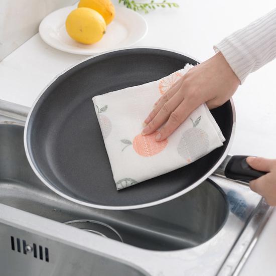 米菈生活館N142木纖維八層抹布吸水防油廚房加厚洗碗桌面清潔乾淨衛生居家